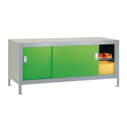 Full Area Sliding Door Cabinet Green