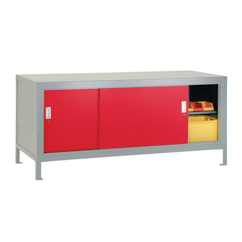 Full Area Sliding Door Cabinet Red