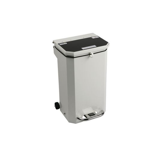 20L Flame Retadant Waste Bin With Black Lid Domestic Municipal Waste