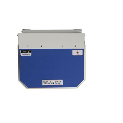 50L Flame Retadant Waste Bin With Blue Lid User Defined