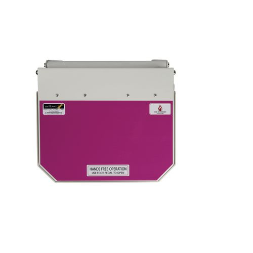 50L Flame Retadant Waste Bin With Purple Lid Cytotoxic &Cytostatic Waste