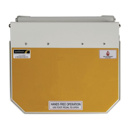 50L Flame Retadant Waste Bin With Yellow Lid Waste For Incineration Formerly Clinical