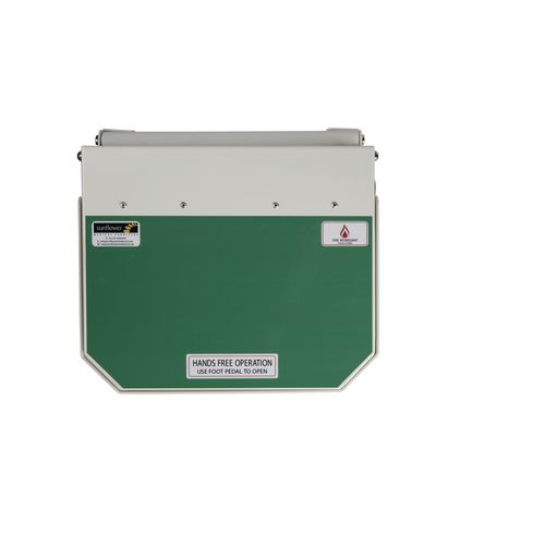 70L Flame Retadant Waste Bin With Green Lid User Defined