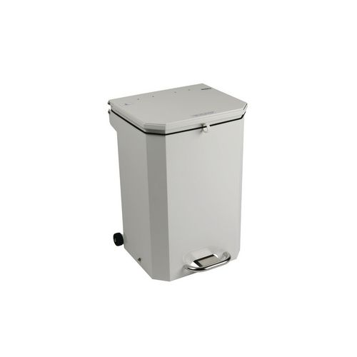 70L Flame Retadant Waste Bin With White Lid General Use