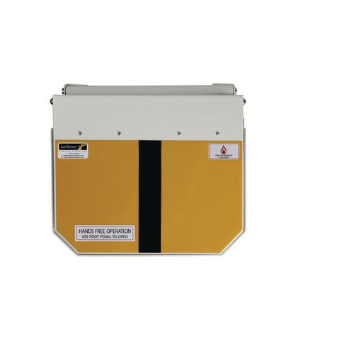 70L Flame Retadant Waste Bin With Yellow And Black Lid Offensive &Hygiene Waste