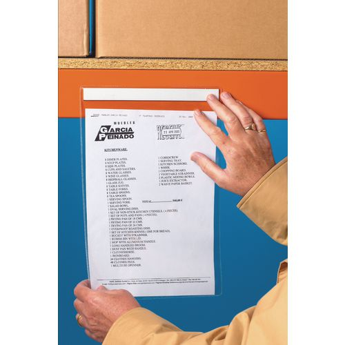 S/A Horizontal A4 Document Pocket 215X310 Pk 10