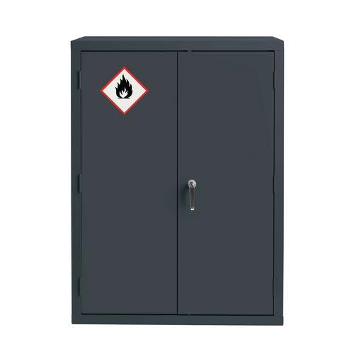 Grey Flammable Cabinet 1220X915X459 2 Shelves