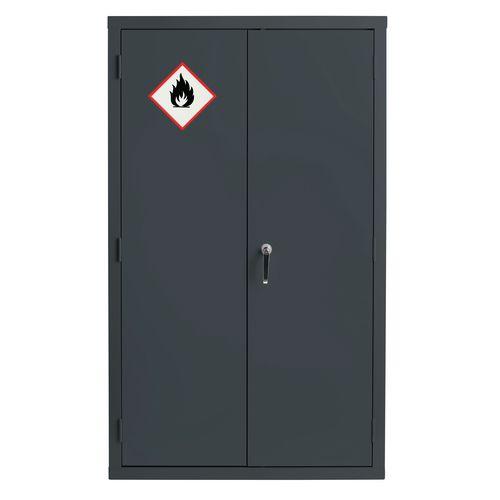 Grey Flammable Cabinet 1525X915X459 3 Shelves