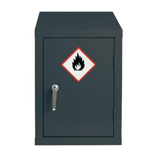 Grey Flammable Cabinet 610X459X459 1 Shelf