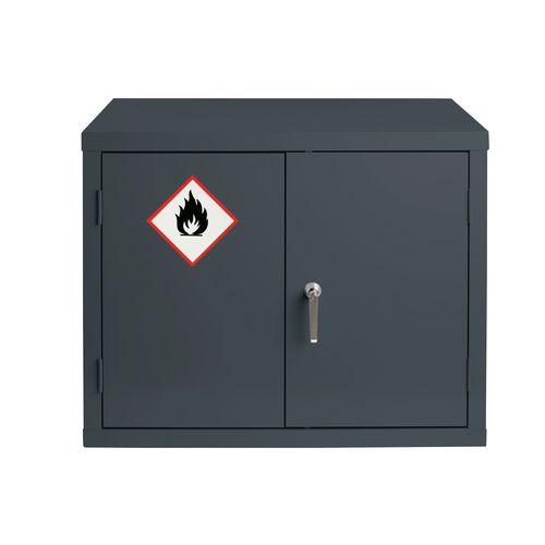 Grey Flammable Cabinet 712X915X459 1 Shelf