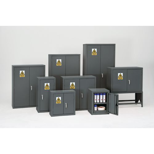 Grey Flammable Cabinet 1830X915X459 3 Shelves