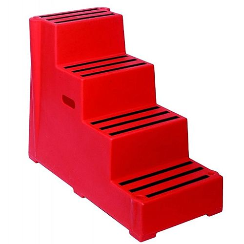 Plastic Safety Steps 4 Step Red