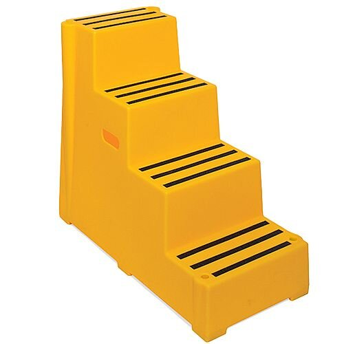 Plastic Safety Steps 4 Step Yellow