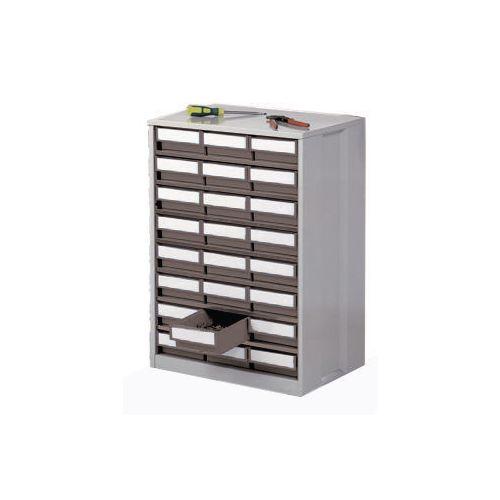 Cabinet High Density Storage 24 Bins Grey