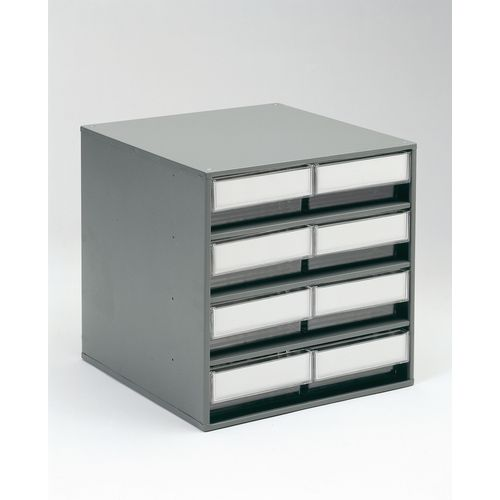 Cabinet Coloured Bin With 8 Type D Grey Bins