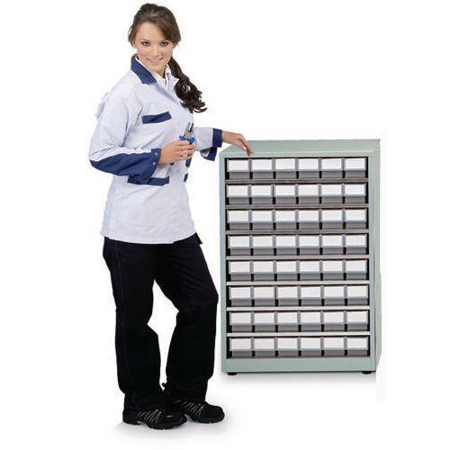 Cabinet High Density Storage 48 Bins Grey