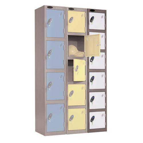 Black Body Locker 12x18 6 White Doors
