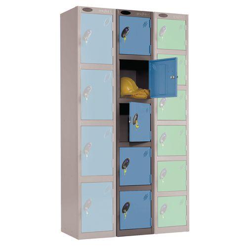 Black Body Locker 12X18 5 Blue Doors
