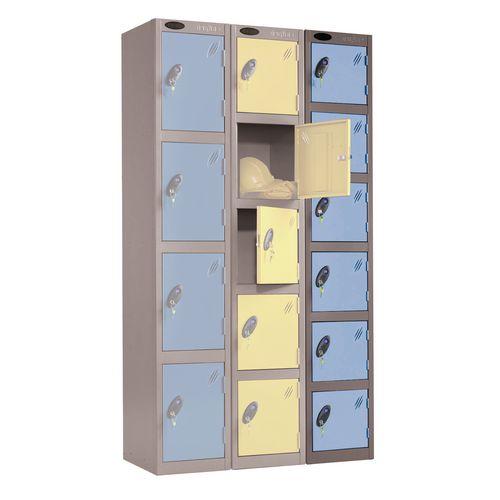 Black Body Locker 12x18 6 Blue Doors
