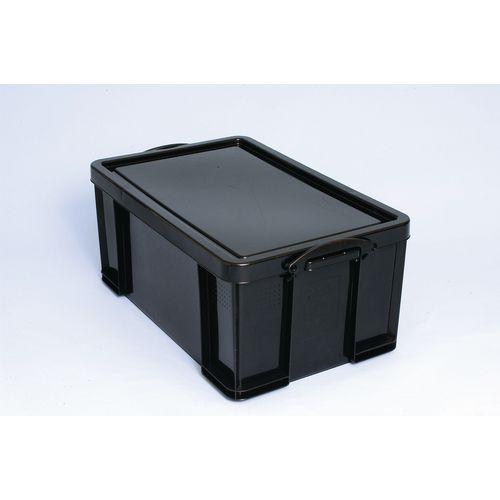Really Useful Box 64L Black Polypropylene 100% Recycled Box
