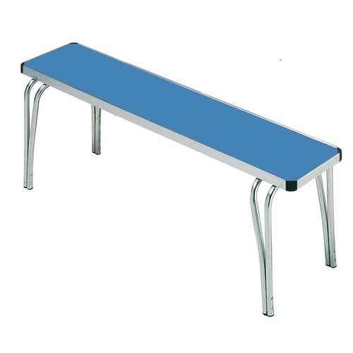 Stacking Canteen Bench Seat Blue W1220xD254xH432mm