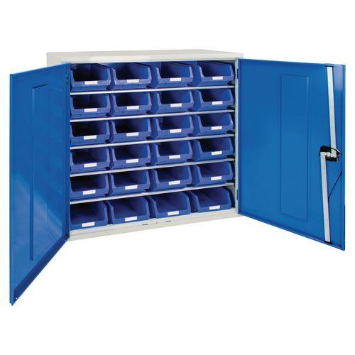 Cabinet H1000Xw1015Xd430mm C/W 24Xtc4 Ble &5 Shelves