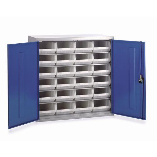 Cabinet H1000Xw1015Xd430mm C/W 24Xtc4 White &5 Shelves