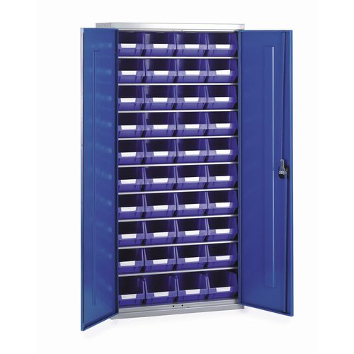 Cabinet H2000Xw1015Xd430mm C/W 52Xtc4 Blue &11 Shelves