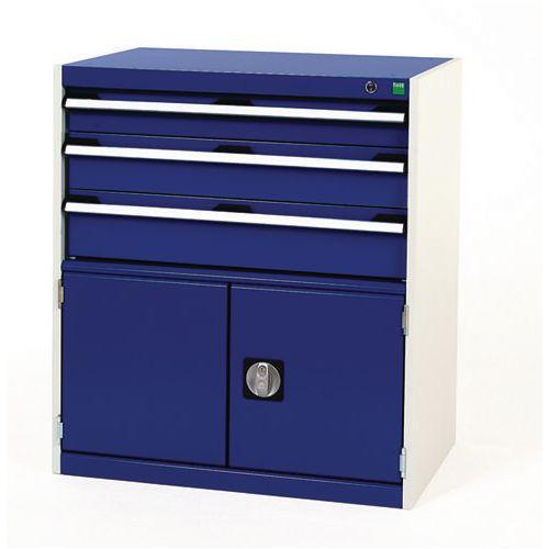 3 Drawer/Cupboard Unit HxWxD : 900x800x525