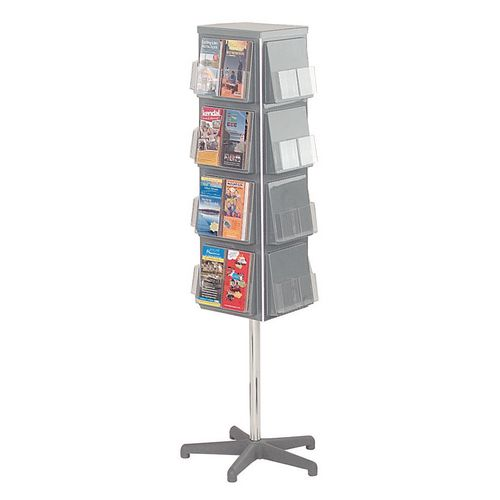 Busybase 4 Sided Revolving Leaflet Dispenser A5 Grey