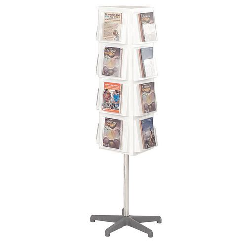 Busybase 4 Sided Revolving Leaflet Dispenser A5 White