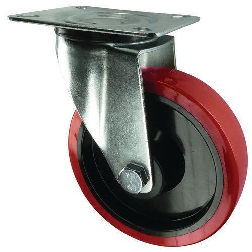 80mm Swivel Castor Plate Fixing Polyurethane &Steel
