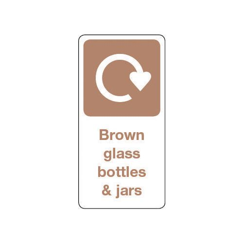 Sign Brown Glass Bottles &Jars Vinyl Roll Of 100  HxW: 50x25