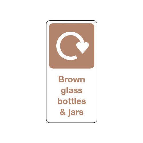 Sign Brown Glass Bottles &Jars Vinyl Roll Of 1000  HxW: 50x25