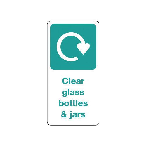Sign Clear Glass Bottles &Jars Vinyl Roll Of 50  HxW: 100x50