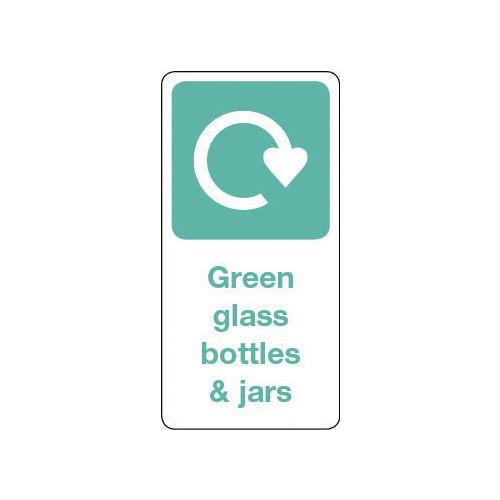 Sign Green Glass Bottles &Jars Vinyl Roll Of 1000  HxW: 100x50