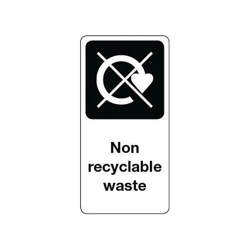 Sign Non Recyclable Waste Vinyl Roll Of 1000  HxW: 100x50