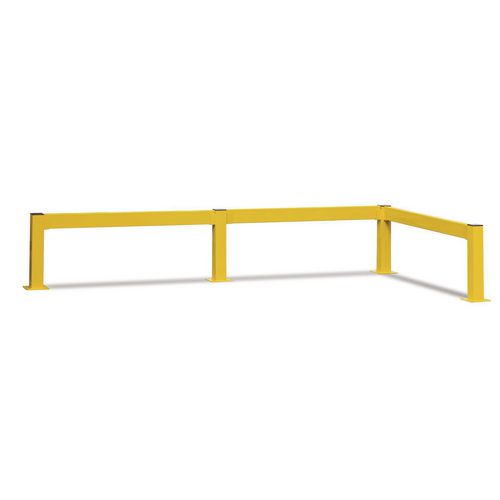 Lift Out Barrier End Post 80x80 500 Yellow