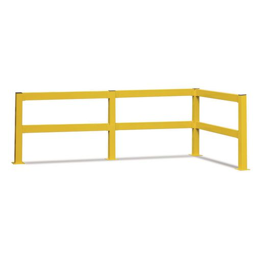 Lift Out Barrier End Post 80x80 mm 900 Yellow