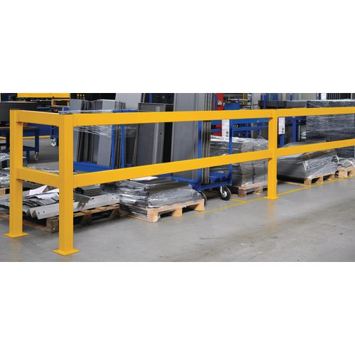 Lift Out Barrier Rail 600 Yellow
