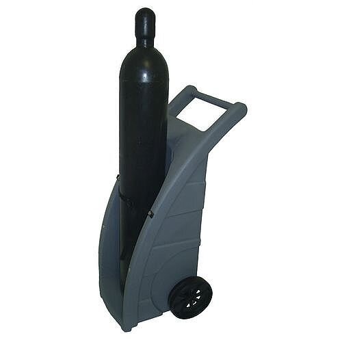 Polyethylene Cylinder Truck For 1 Cylinder With Pneumatic Wheels Capacity 114Kg