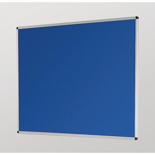 Aluminum Frame Noticeboard 1200x900mm Silver Frame Blue Board