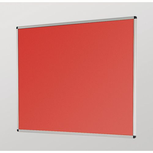 Aluminum Frame Noticeboard 1200x900mm Silver Frame Red Board
