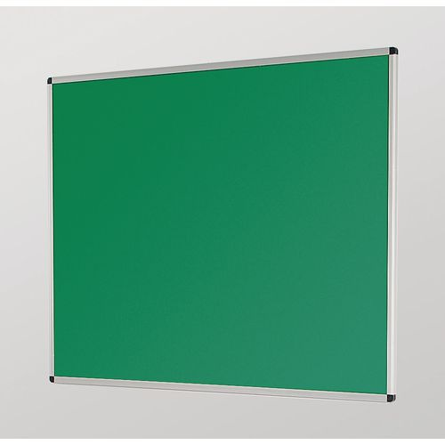 Aluminum Frame Noticeboard 1200x900mm Silver Frame Green Board