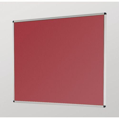 Aluminum Frame Noticeboard 1200x900mm Silver Frame Burgundy Board