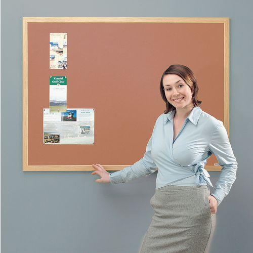 Eco-Friendly Noticeboard 900x600mm Light Oak Frame Cork Board
