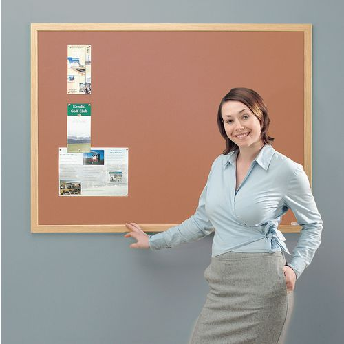 Eco-Friendly Noticeboard 1200x900mm Light Oak Frame Cork Board