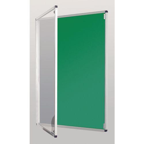 Standard Tamperproof Noticeboard Silver/Green Aluminium/Plastic/Fabric HxW mm: 900x600