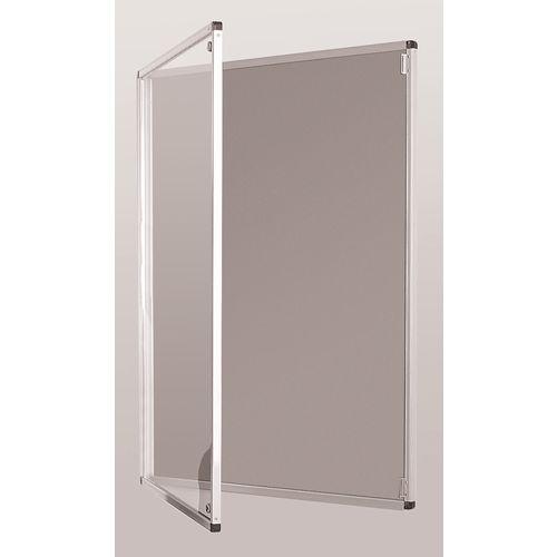 Standard Tamperproof Noticeboard Silver/Grey Aluminium/Plastic/Fabric HxW mm: 900x600