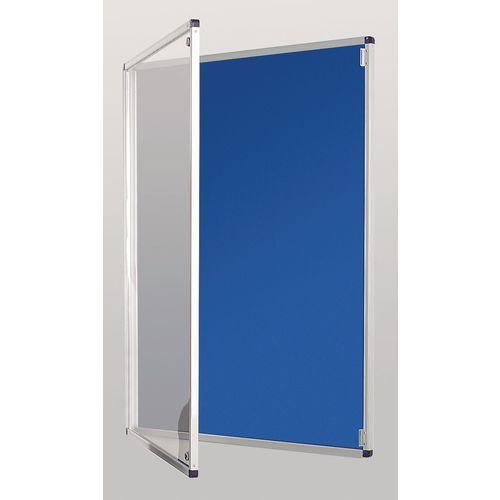 Standard Tamperproof Noticeboard Silver/Blue Aluminium/Plastic/Fabric HxW mm: 900x900
